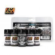 EXAUSTS & STAINS WEATHERING SET<br> AK2037
